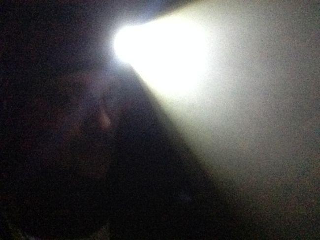 Czołówka tiross, snop światła
