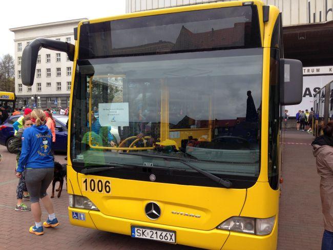 Autobus, bieg Korfantego 2015