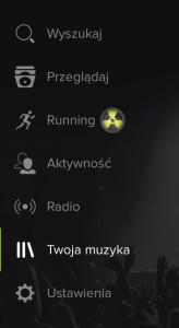 Spotify menu główne