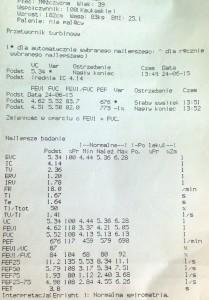 Wyniki badania spirometrycznego
