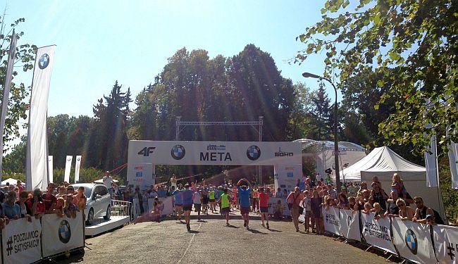 II BMW Półmaraton Praski meta