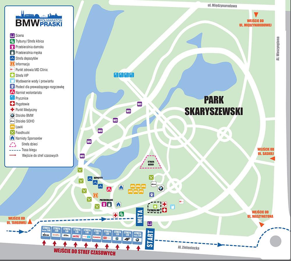 Mapa II BMW Półmaraton Praski
