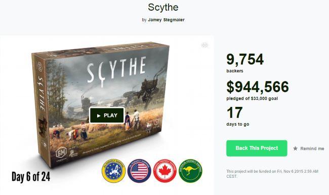 Kickstarter Scythe