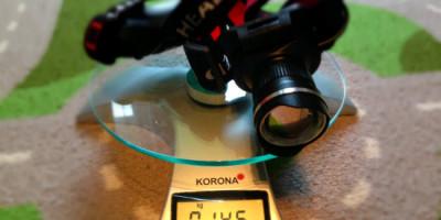 latarka czołowa 7W z diodą cree