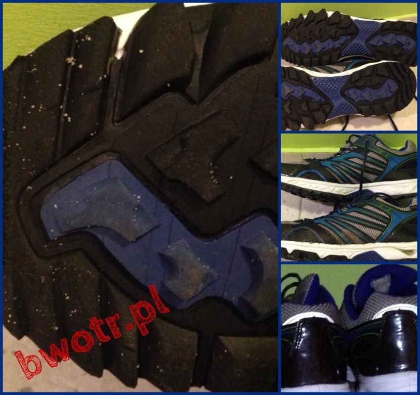 zdjęcia butów biegowych z Lidla po 500km