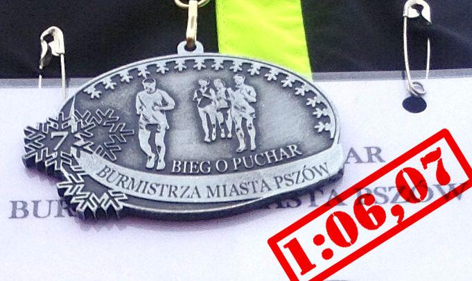 VII bieg o puchar burmistrza Pszowa, medal wynik