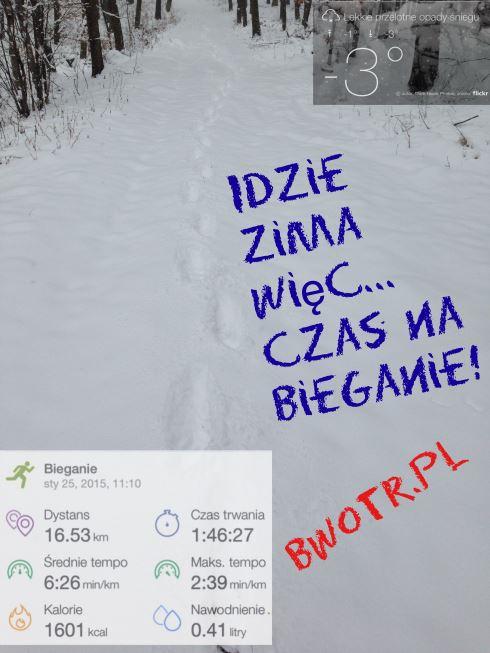 Zimowe bieganie collage bwotr.pl