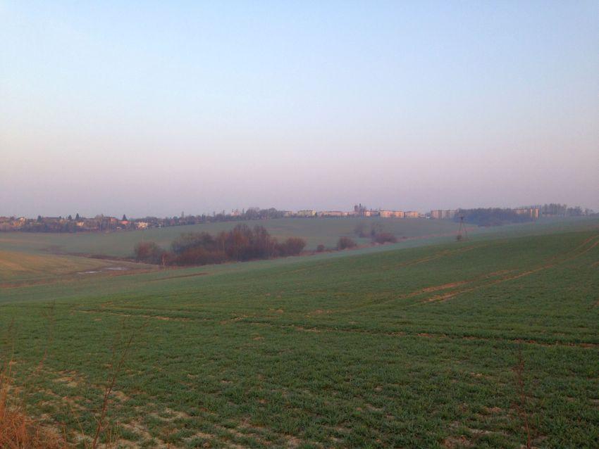 Bieganie rano widok na osiedle