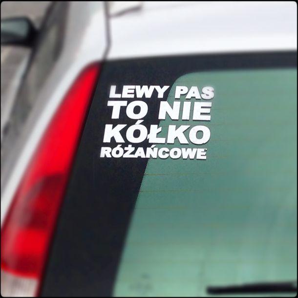 Kółko różańcowe na lewym pasie, bwotr.pl