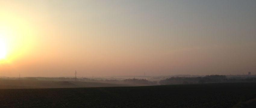 bieganie rano mgły