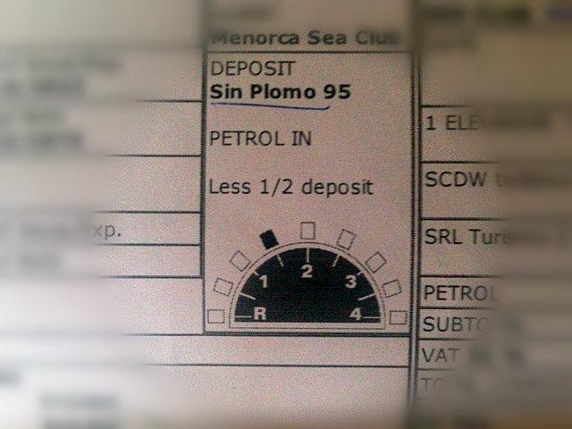 formularz wynajęcia pojazdu w Hiszpanii