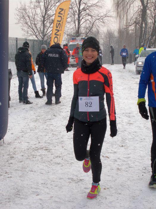 Małgorzata na biegu pszowskim