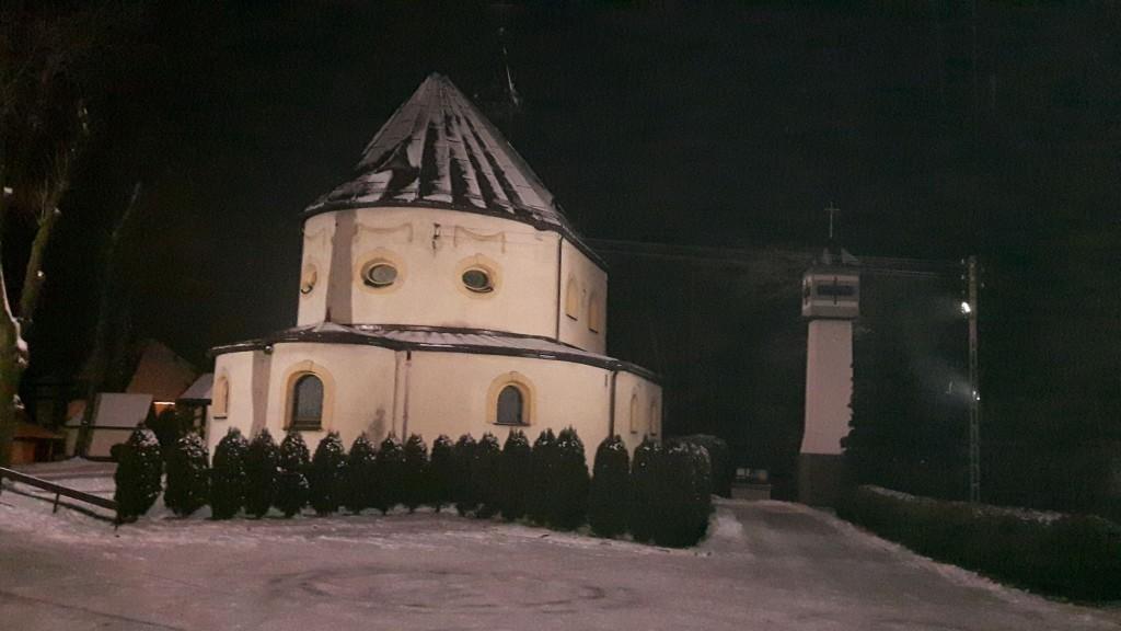 Kalwaria Pszowska nocą