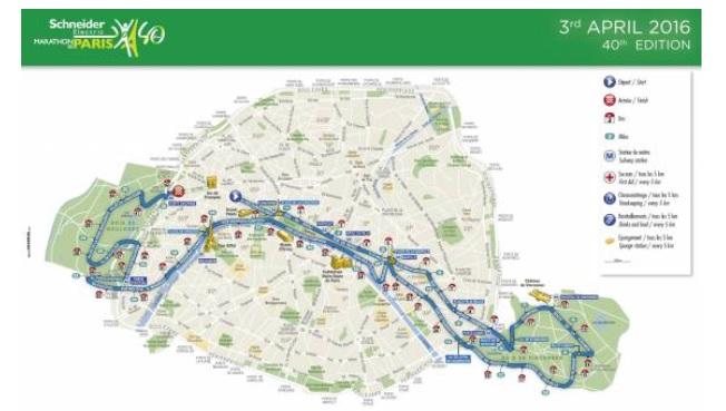 Trasa paryskiego maratonu