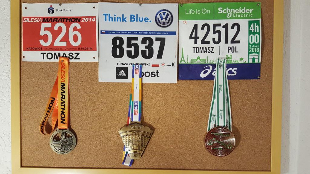 medale z maratonów