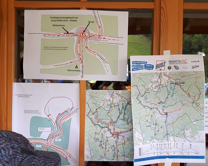 Regatta 1/2 Sky Marathon Babia Góra relacja - odprawa i mapy