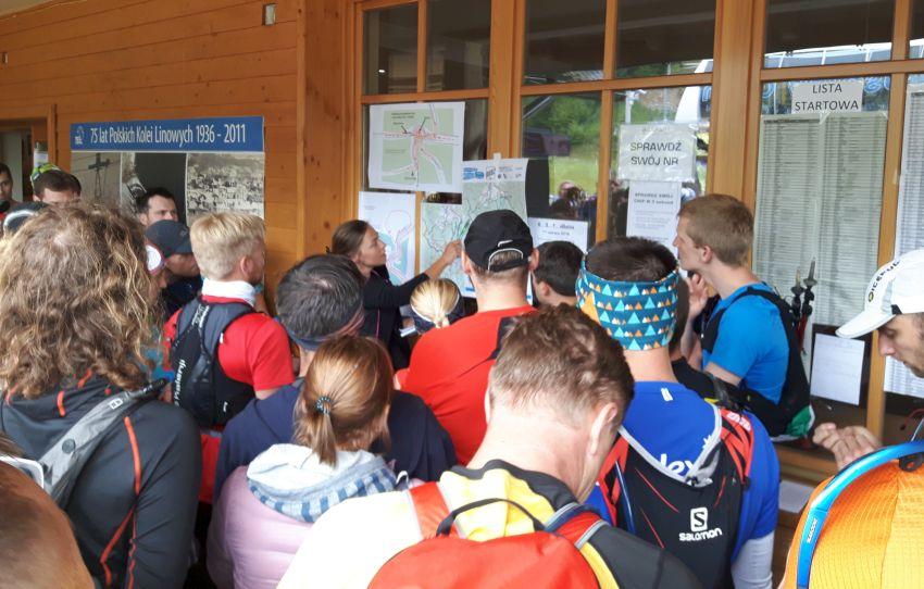 Regatta 1/2 Sky Marathon Babia Góra relacja - odprawa przed startem