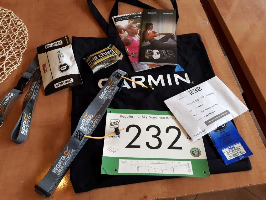 Regatta 1/2 Sky Marathon Babia Góra relacja - pakiet startowy