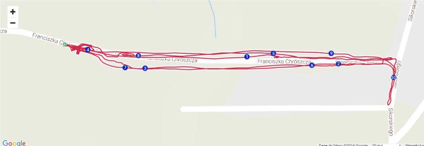 bieganie interwałowe zapis Polar M400 GPS