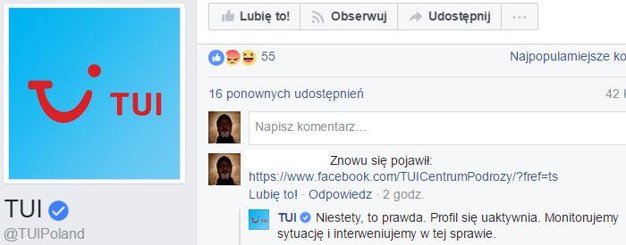 facebook TUI