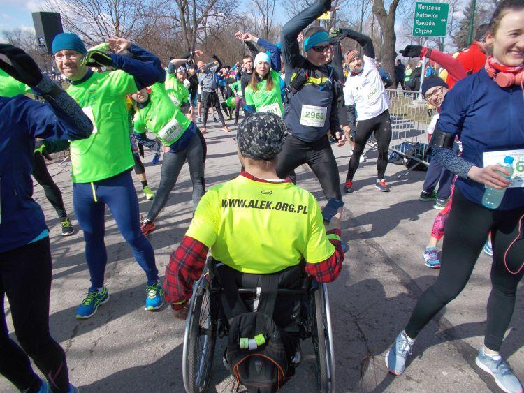 Alek na wózku Półmaraton Marzanny