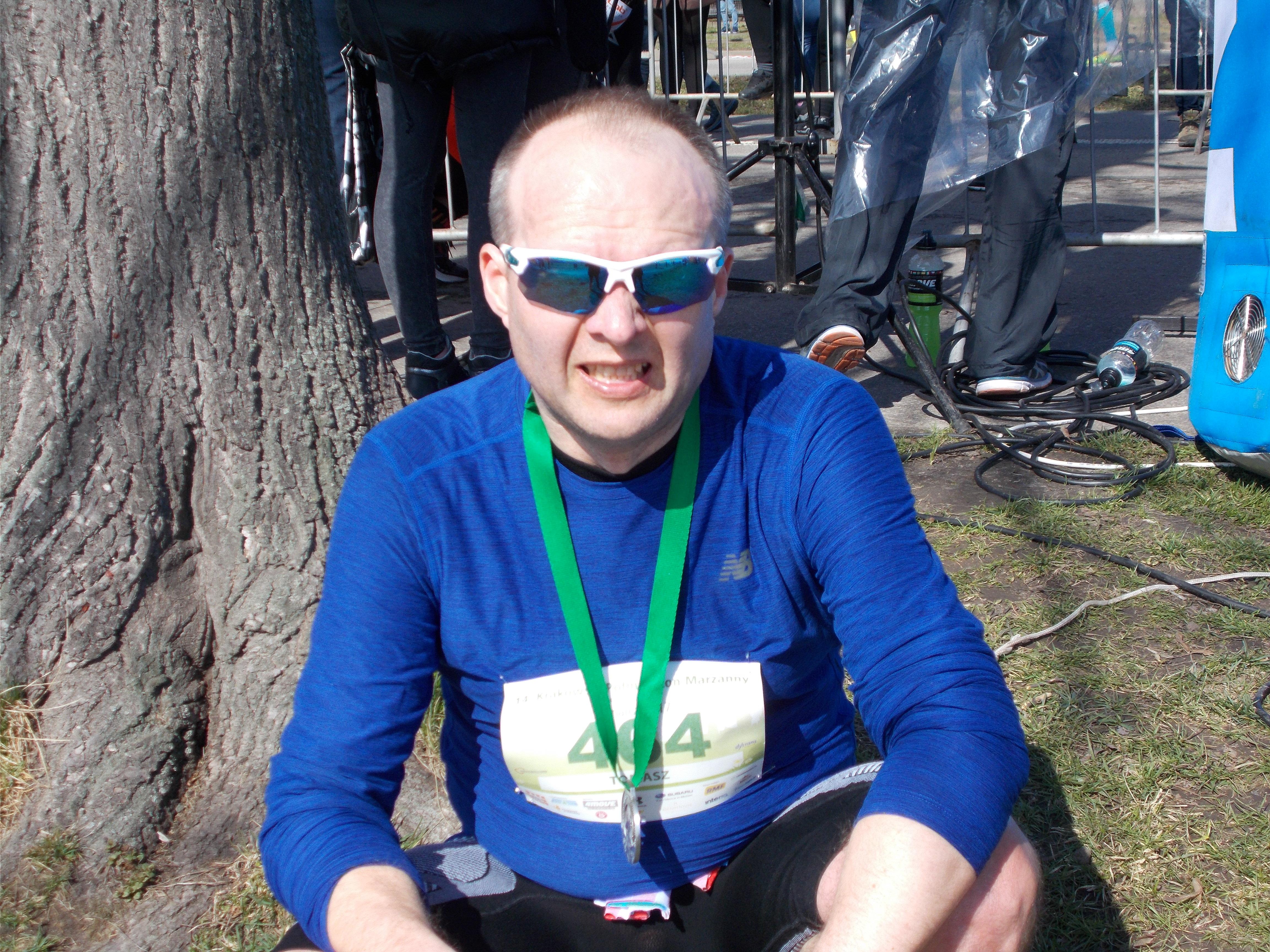 Tomasz medal Półmaraton Marzanny