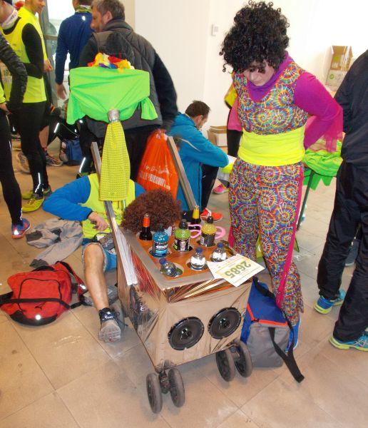 Półmaraton Marzanny przebranie i wózek