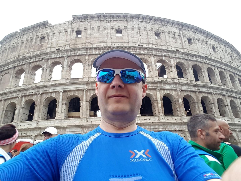 Maraton w Rzymie w strefie startowej