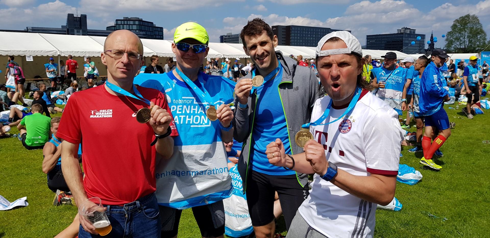 i na mecie Kopenhaga Maraton