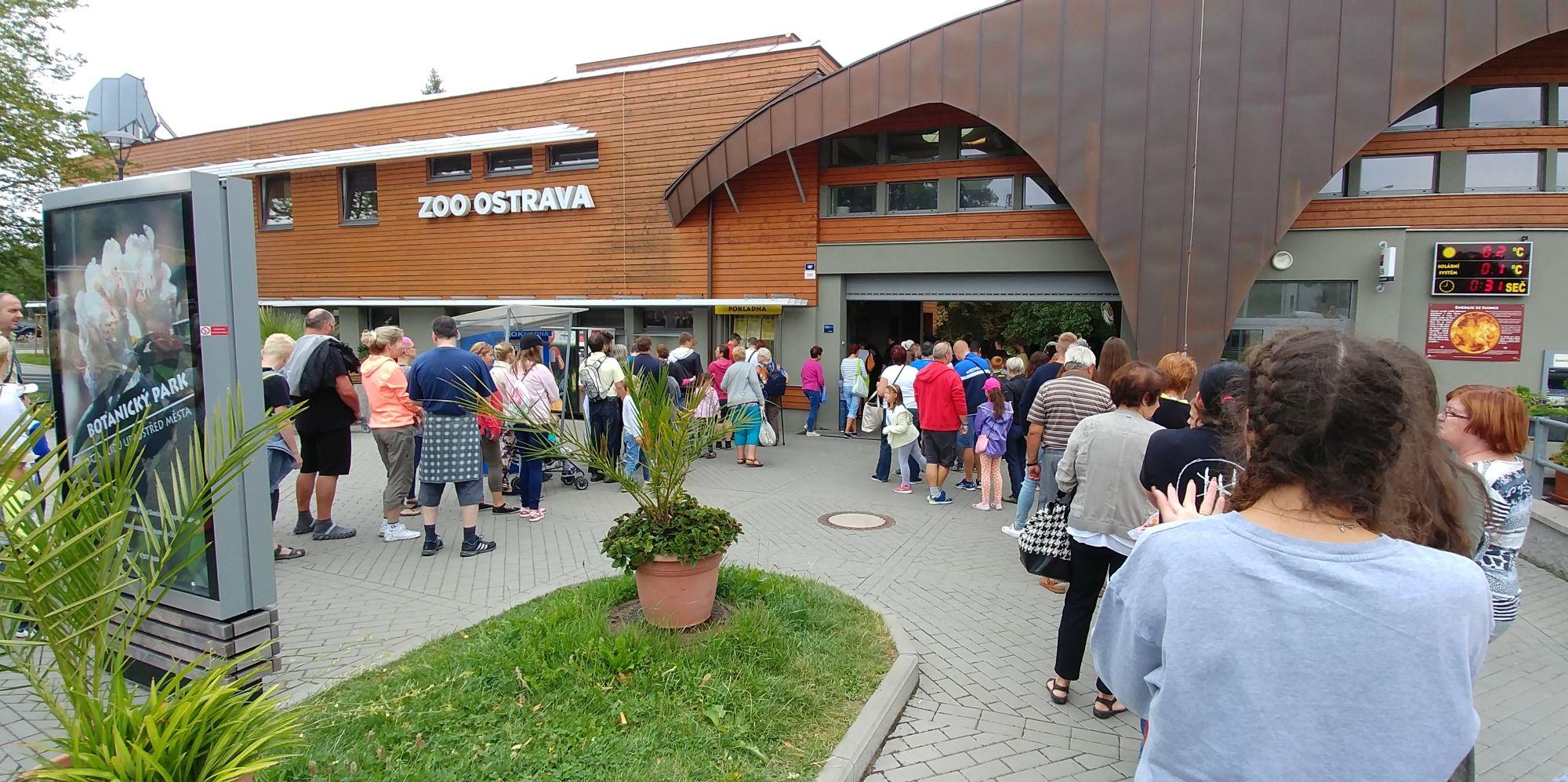 kolejka do wejścia w ZOO Ostrava