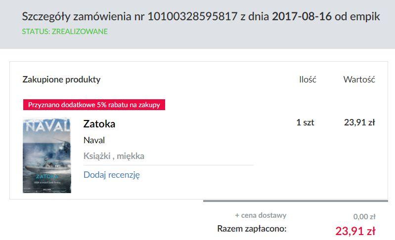 Zatoka Navala zamówiona w przedsprzedaży
