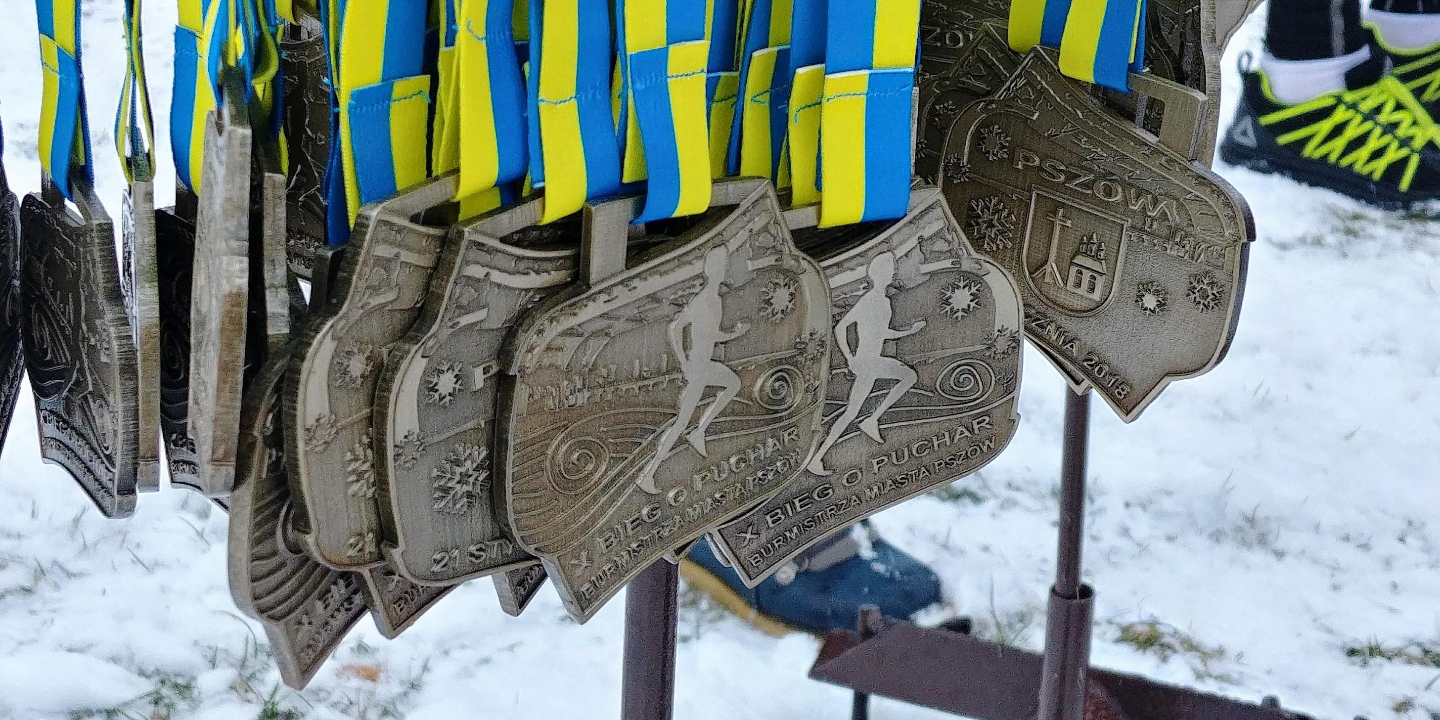 medal X bieg o puchar burmistrza pszowa