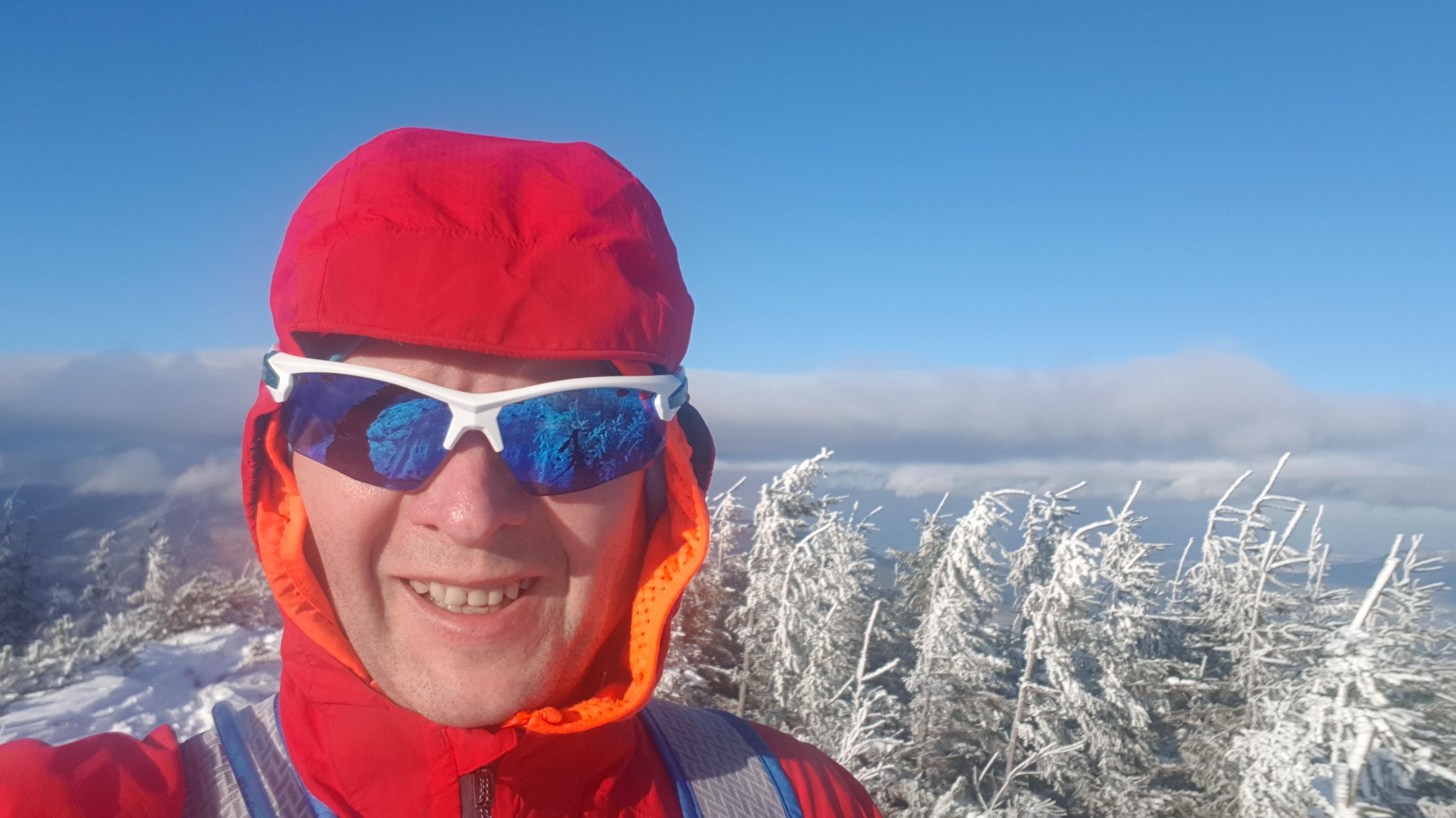 bieganie w zimie uśmiech