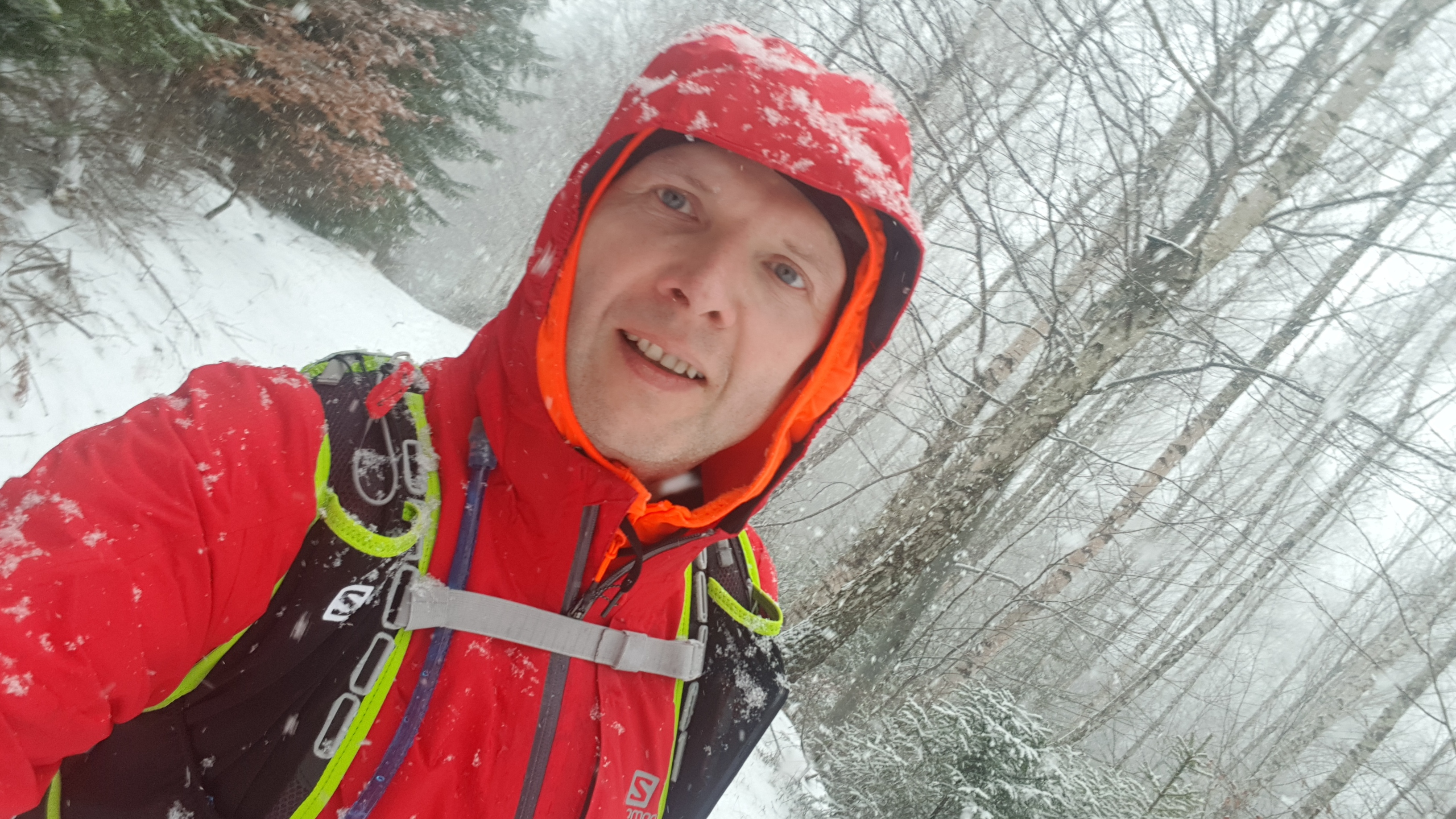 bieganie zimą fotka z trasy