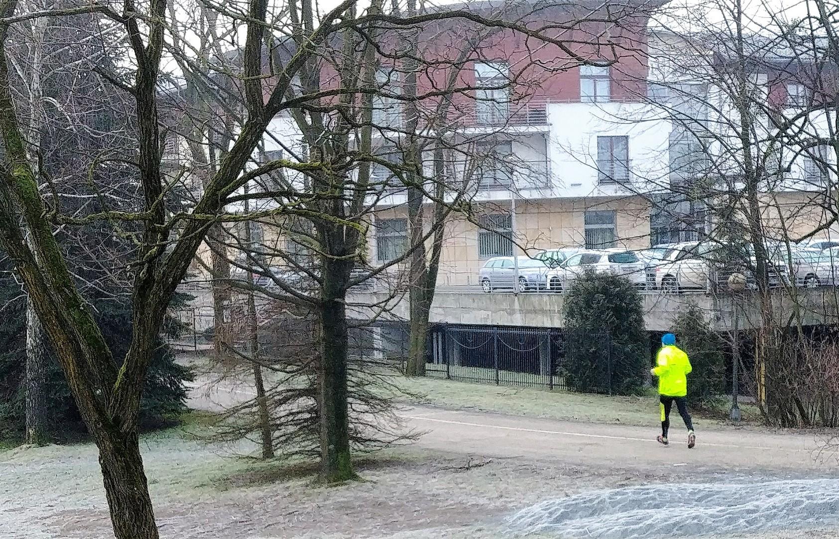 biegacz w Ustroniu