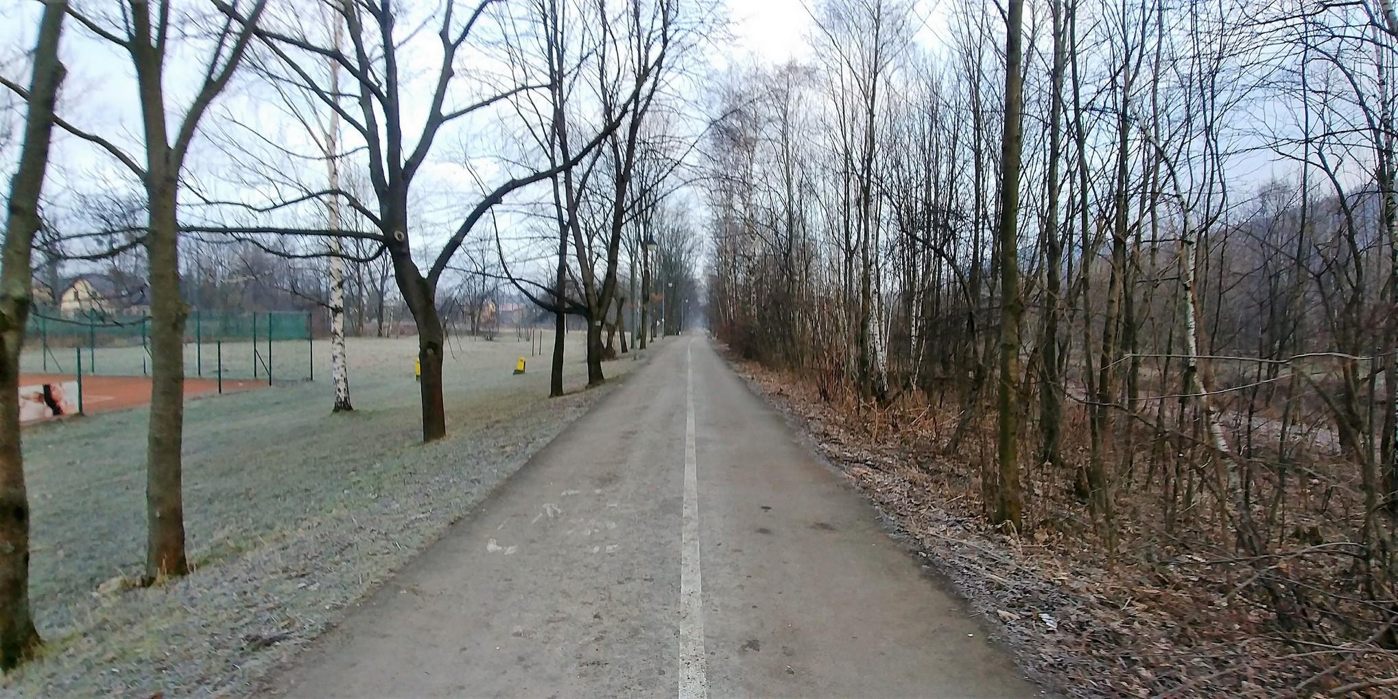 ścieżka biegowa w Ustroniu
