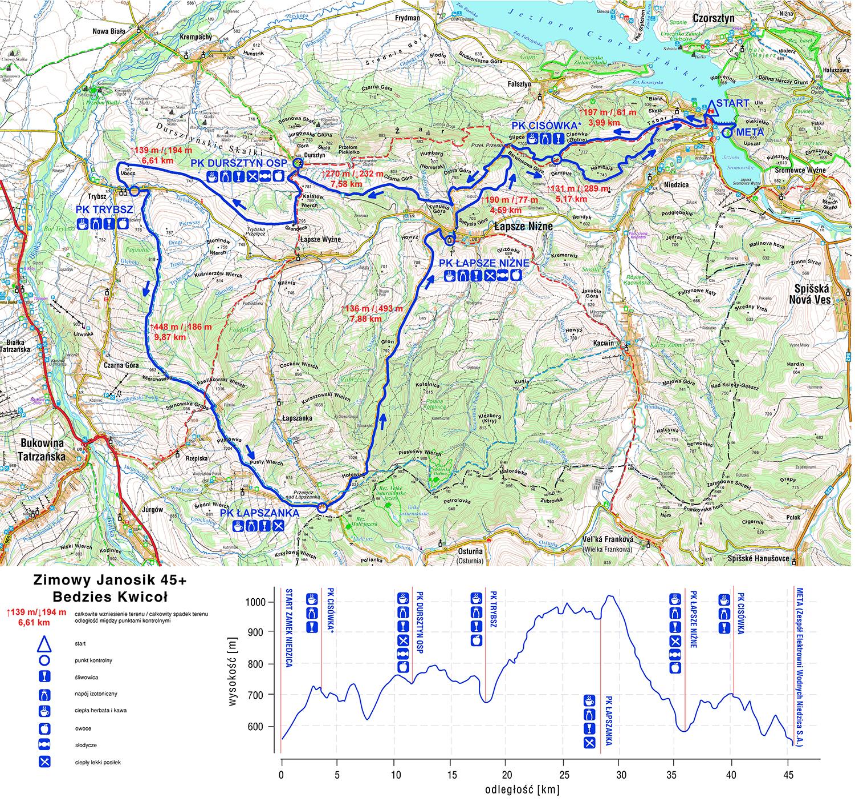 Zimowy Janosik mapa
