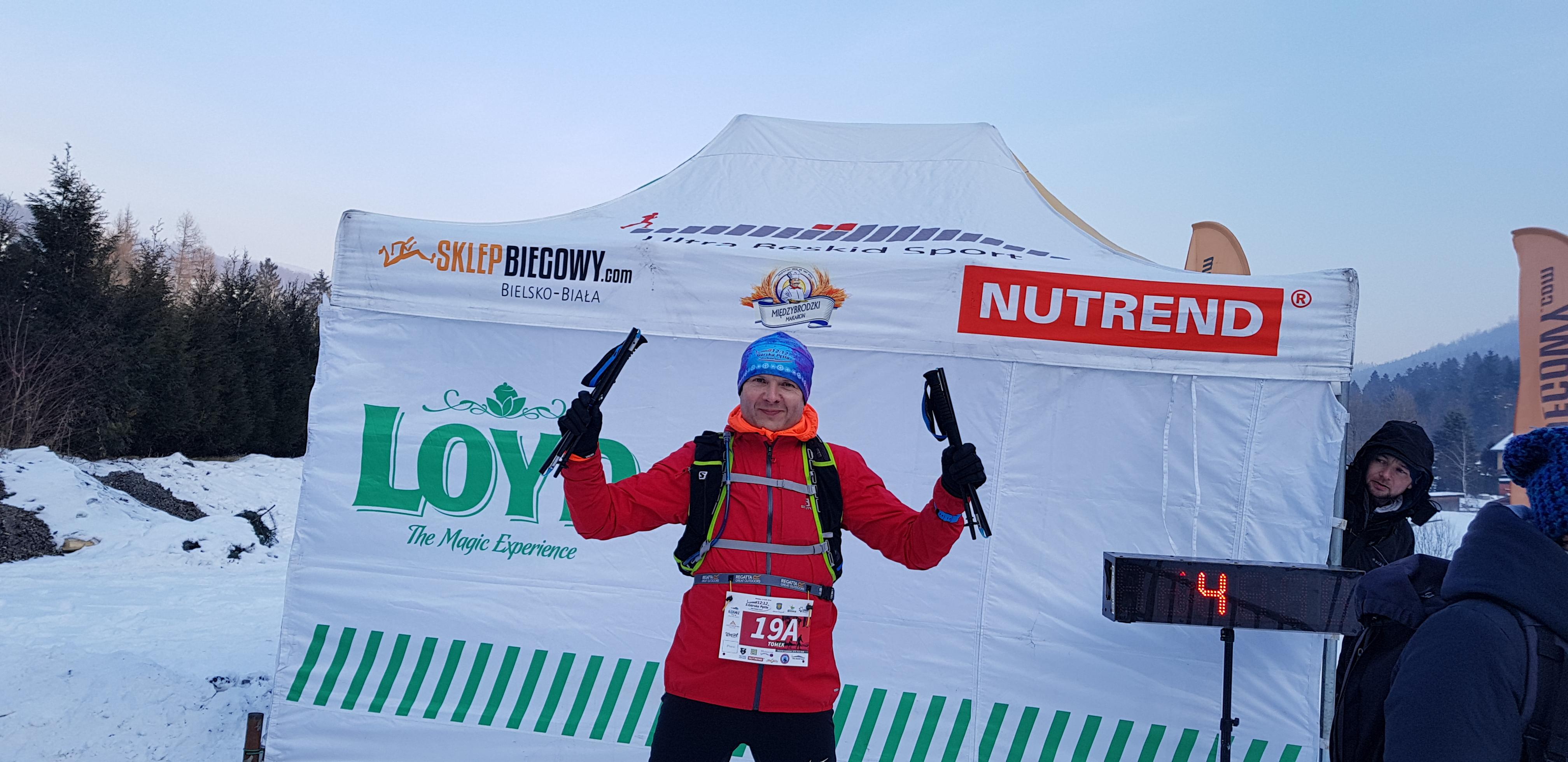 Tomasz przed startem Górskiej Pętli UBS