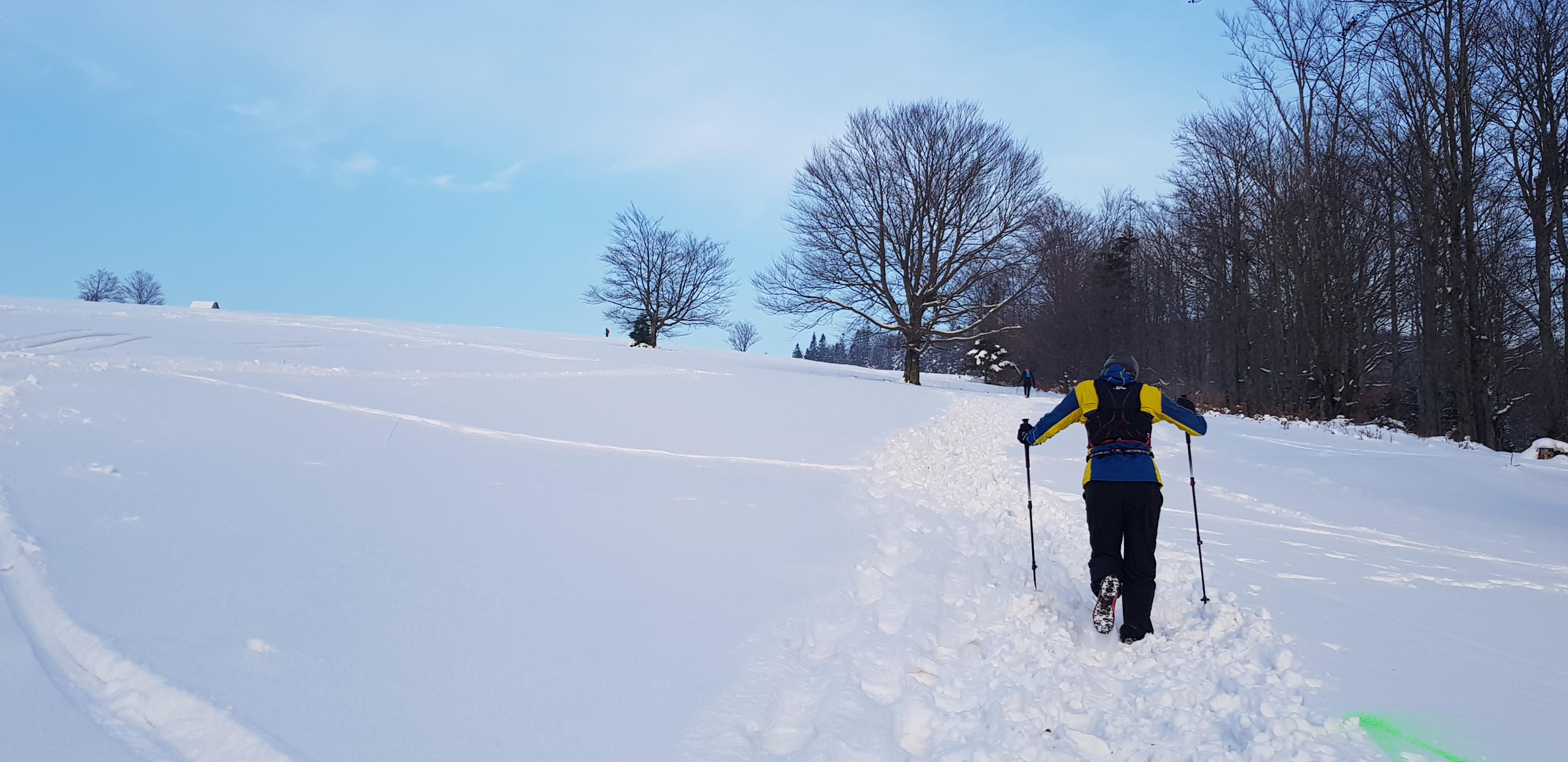 bieganie w śniegu