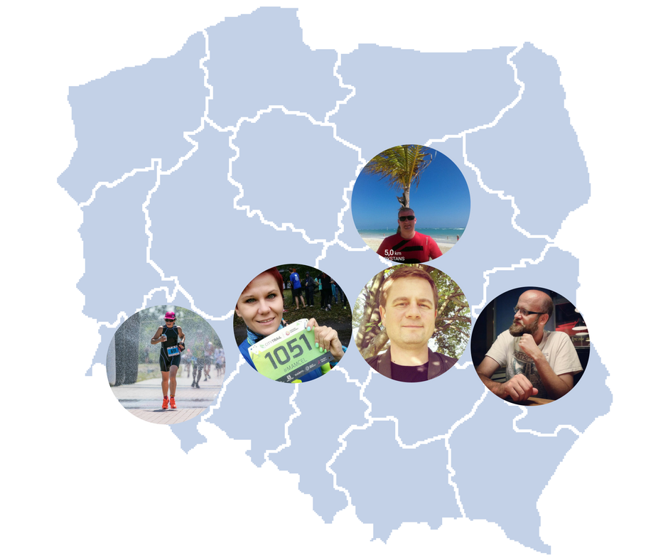Mapa blogerów biegowych