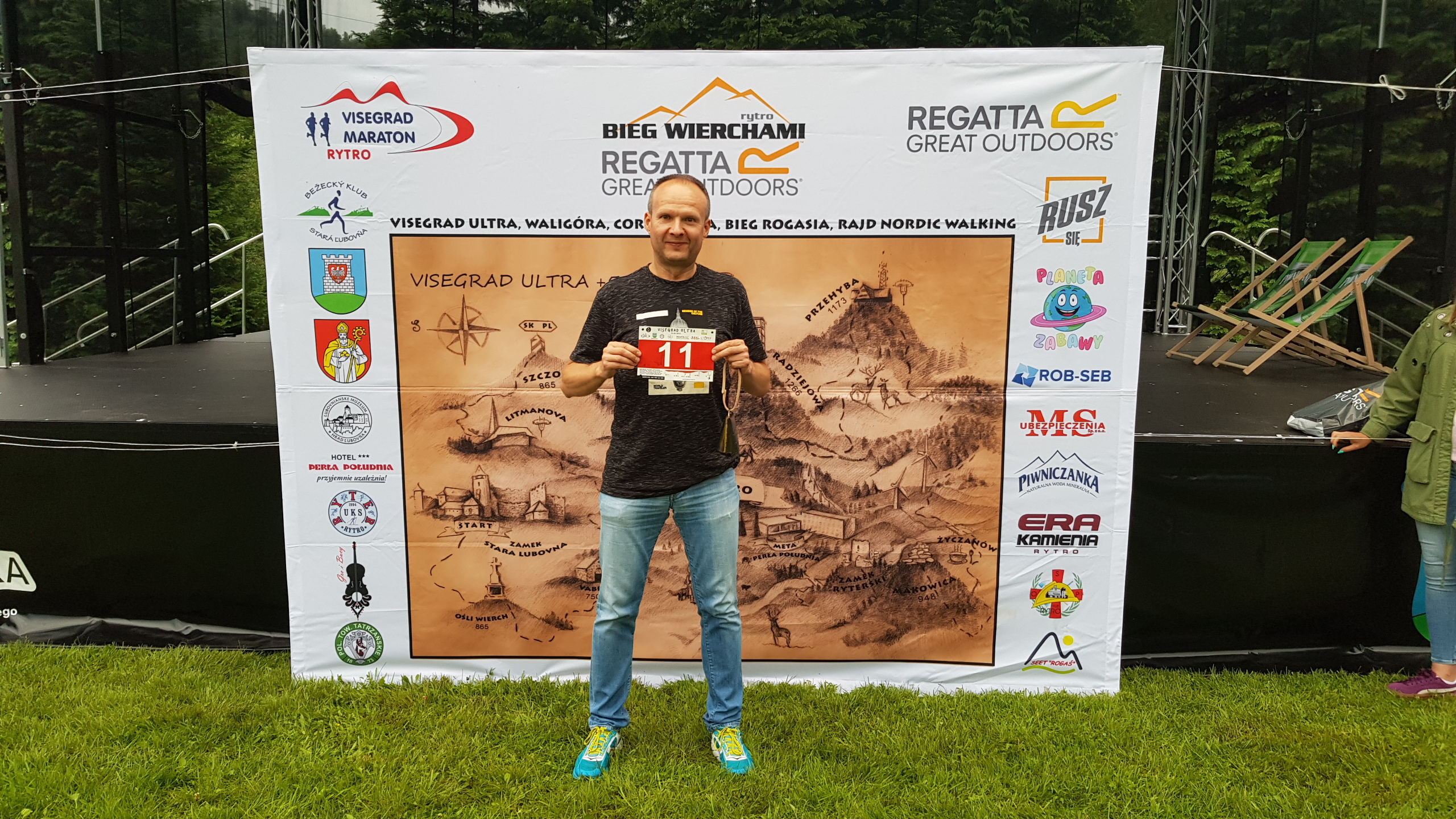 Tomasz Visegrad Ultra i jego numer startowy