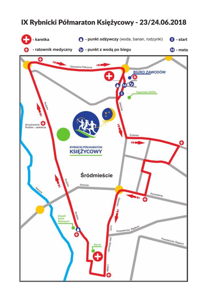 trasa IX Półmaraton Księżycowy