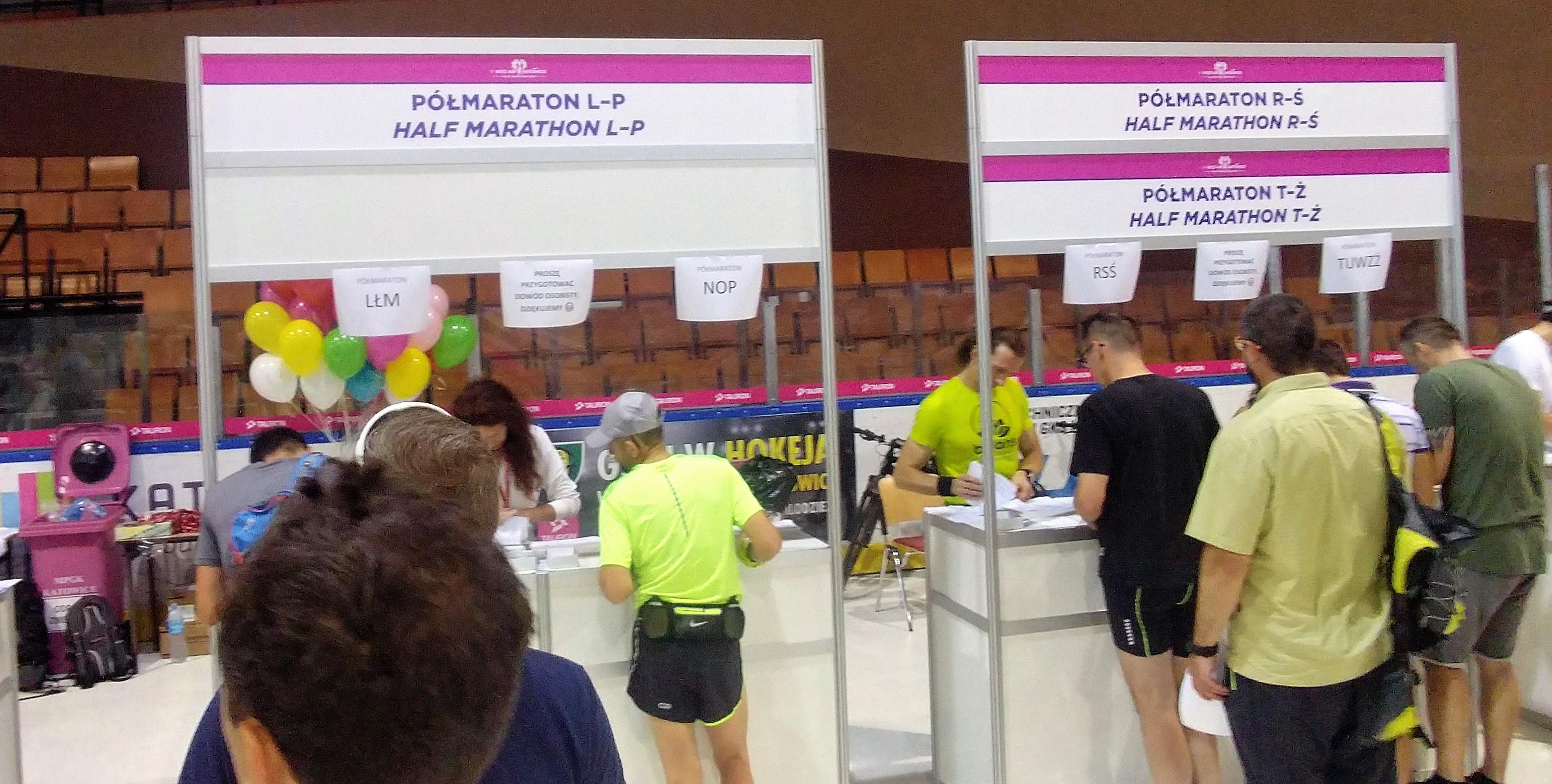 Wizz air Katowice Half Marathon odbieranie numerów