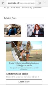 Zaniczka blog reklamy Disqus