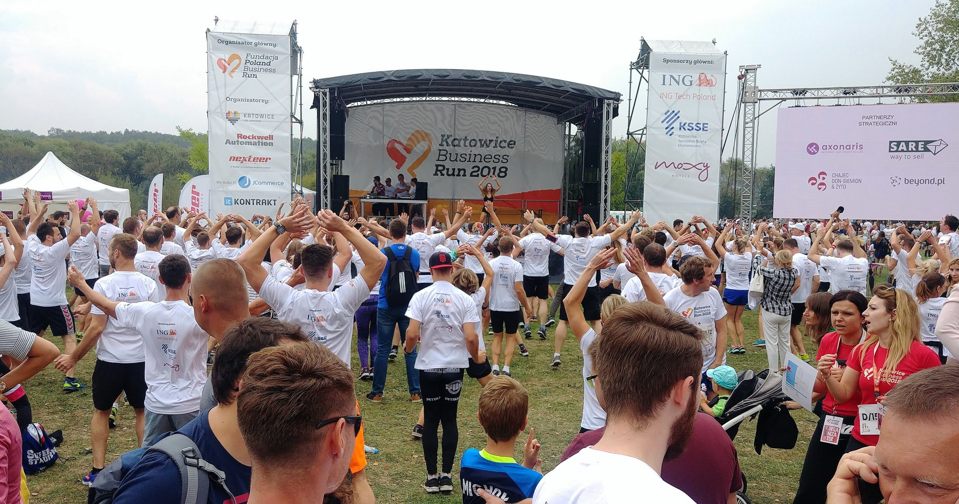 rozgrzewka Katowice Business Run