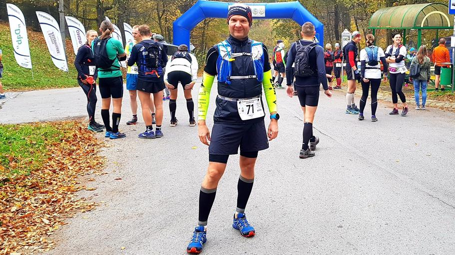 Tomasz przed startem Orłowa trail