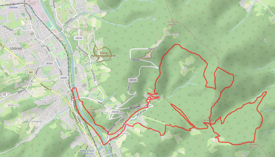 mapa orłowa trail