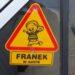 Franek naklejka na szybę auta